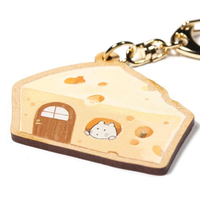 木製キーホルダー【チーズ】_2