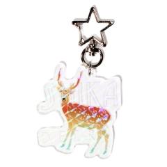 ホログラムアクリルキーホルダー【鹿】