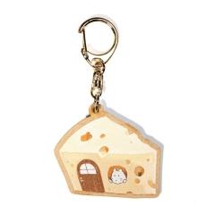 木製キーホルダー【チーズ】