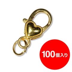 【アタッチメント】ハートカニカン(ゴールド)100個1セット